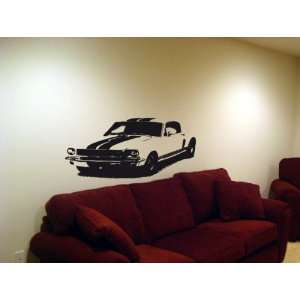 Wall MURAL Vinyl Sticker Car 65 FORD SHELBY MUSTANG 002