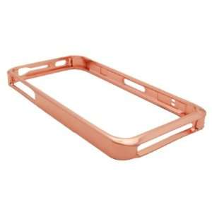 iPhone 4S Lite Weight Metal Bumper Rose Gold Chrome Frame