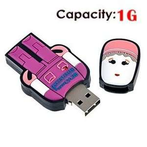 1G USB Flash Drive with Rubber Robot Doctor Shape (Red