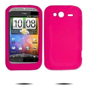 Hot Pink Silicone Skin Case / Rubber Soft Jelly Sleeve Protector Cover