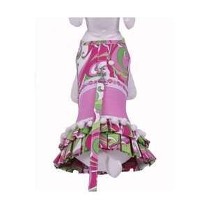 Cha Cha Couture Retro Pink Print Dress with Leash Kitchen