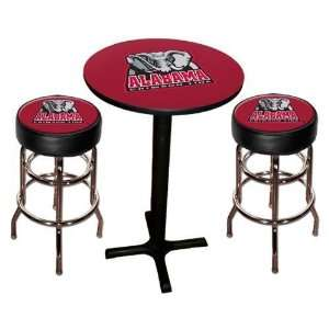 Alabama Crimson Tide Pool Hall/Bar/Pub Table   Black