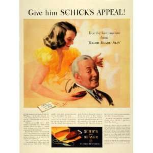 1939 Ad Schick Dry Shaver Electric Razor Dad Babs Fathers