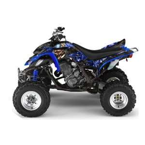 AMR Racing Yamaha Raptor 660 ATV Quad Graphic Kit   Madhatter Blue