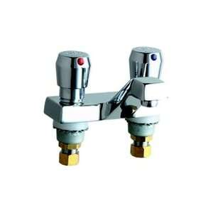 Chicago Faucet   2 Handle Lavatory Self Closing