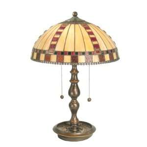 Dale Tiffany TT60298 Roulette Table Lamp, Antique Golden Sand and Art