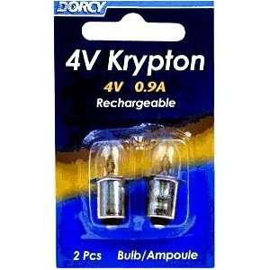 41 1668 4V   4V 0.9A Bayonet Base Krypton Replacement Bulb, 2 Pack