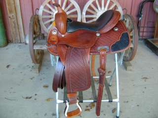 15 CROCODILE SEAT WESTERN BARREL RACER RACING SHOW SADDLE HAND