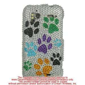 Sparkling Multi Color Dog Paws Full Diamond Rhinestone
