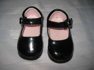 Baby Girls Mary Jane Dress Shoes Black Size 3 Janes