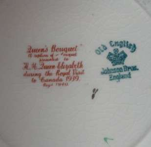 Set of 2 Johnson Brothers Queens Bouquet 8 Salad Dessert China Plates