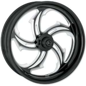 Black 18 x 10.5 Custom Rival Contrast Cut Wheel for 1 in. Axles