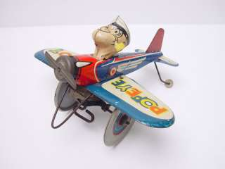 Vintage 1940s Marx Popeye The Pilot Tin Windup Toy