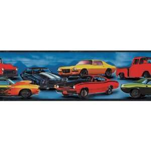 Decorate By Color BC1580017 Blue Hot Rod Cars Border