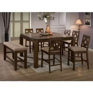 Alto 8 Piece Pub Table Set in Walnut