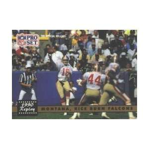 Joe Montana/Jerry Rice 1991 Pro Set Card #329 Sports