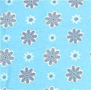 Windham Cotton Flannel Fabric Winter Snowflakes on Pale Blue, Per Fat