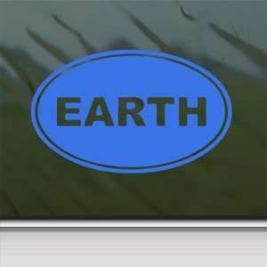 EARTH Euro Oval Blue Decal Car Truck Bumper Window Blue