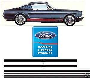 1965 1966 MUSTANG GT STRIPE KIT NEW FORD LICENSED