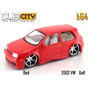 Jada Dub City Kustoms Red 2002 VW GTI 164 Scale Die Cast