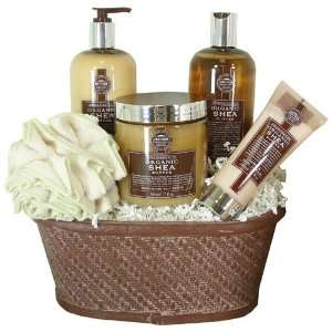 Luxury Spa Pampering Gift Basket with Organic Shea Butter