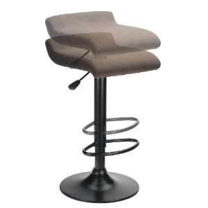 Marni Air Lift Stool, Micro Fiber Seat Top, Black and