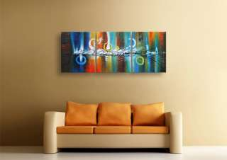 Large Framed Oil Painting Canvas Modern Abstract Textured Wall Art G37