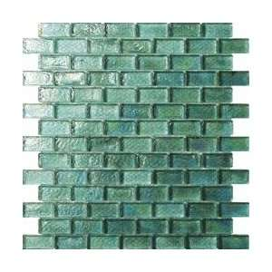 G18 Iridescent Green Base Subway Glass Mosaic Tile 10sqft/one Box G18