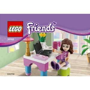 LEGO Friends Set #30102 Olivias Desk Toys & Games