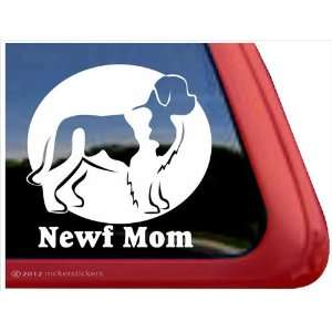 Newf Mom ~ Landseer Newfoundland Vinyl Window Auto Decal