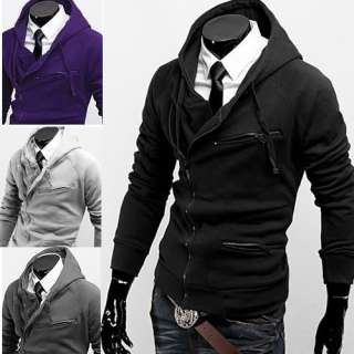 N93 Mens Fashion Stylish Slim Fit Hoodies Jackets Coats 4 Colors US