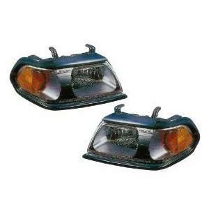 Mitsubishi Montero Sport Flat Black Headlight Headlamp Driver