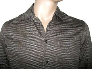 ARMANI EXCHANGE MENS MUSCLE LONG SLEEVE SHIRT BROWN OLIVE M