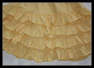 Hula Mula Yellow Stripe Tiered Ruffle Dress Leggings 5