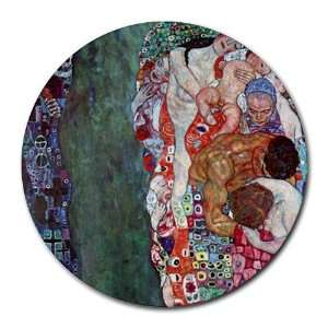 Death and Life By Gustav Klimt Round Mouse Pad Office