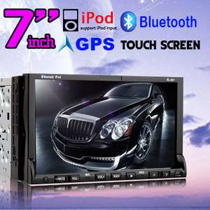 GPS NAV Double 2 Din HD 7In Dash Car Stereo DVD/Radio Player iPod