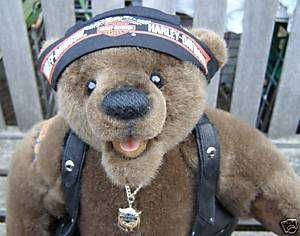 FRANKLIN MINT HARLEY DAVIDSON COLLECTOR TEDDY BEAR DOLL