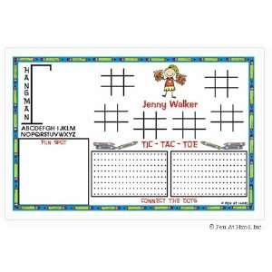 Hand Stick Figure Personalized Placemats   (Activity)
