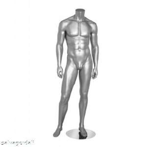 New Silver Male Headless Mannequin Clothes Display 4S