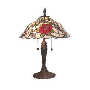Dale Tiffany Mesa Rose 2 Light Table Lamp TT60747