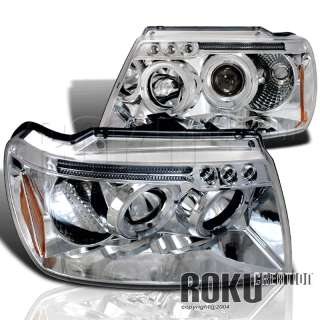 99 04 JEEP GRAND CHEROKEE LED HALO PROJECTOR HEADLIGHTS