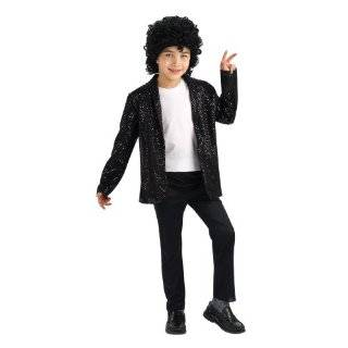 Michael Jackson Costume, Childs Deluxe Billie Jean Sequin Jacket
