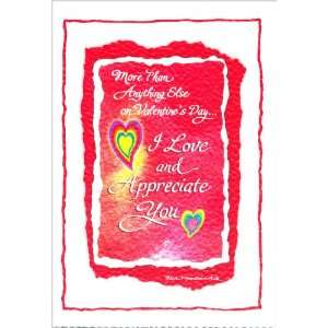 Blue Mountain Arts Greeting Card Valentines Day I Love and Appreciate