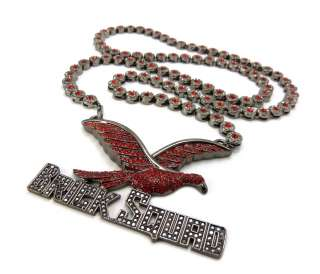 BRICK SQUAD PENDANT & 33 CLUSTER CHAIN HIGH QUALITY NECKLACE   SCP477
