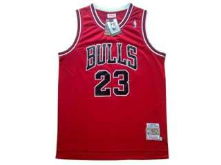 23 MICHAEL JORDAN Chicago Bulls jersey Red Swingman