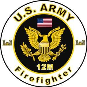 United States Army MOS 12M Firefighter Decal Sticker 3.8
