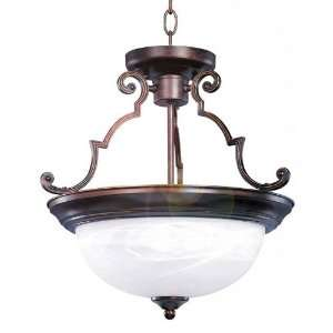 Maxim Lighting 5843MROI 2 Light Semi Flush Ceiling