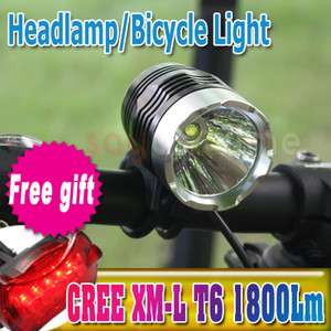 1800 Lumens CREE XML XM L T6 LED Bicycle Lamp bike HeadLight Headlamp