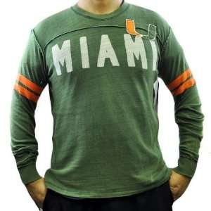 NCAA Miami Hurricanes Rave Cotton Long Sleeve Shirt Sweatshirt GIII