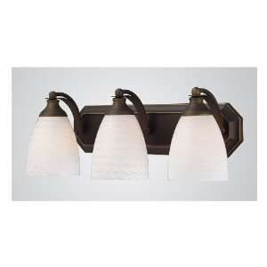 Lighting 3 Light Aged Bronze Contemporary Bathroom Vanity Light